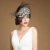 fascinators de tul de lana sombreros headpiece estilo femenino clásico
