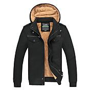 c&k chaqueta de los hombres (de color caqui negro de oliva)
