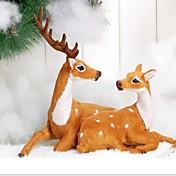 navidad navidad decoración regalo parejas celebran navidad ciervos adornos