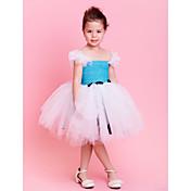 子供用ダンスウェア ワンピース チュチュ 子供用 訓練 チュール サッシュ/リボン ノースリーブ ナチュラルウエスト