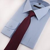 Hombre Todas las Temporadas Fiesta Trabajo Casual Poliéster Corbata,Estampado Rojo