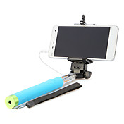monopie de mano con cable para autoprotrait selfie pega accesorios universales del teléfono celular