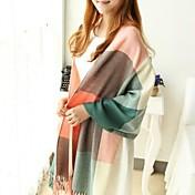 女性の冬の長い肥厚模造カシミヤスカーフ