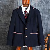 コントラスト配管との学校の制服は、ネイビーのスーツ