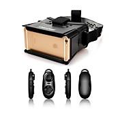 colorcrossユニバーサルバーチャルリアリティ3Dビデオメガネ+ iphone / 4用の多機能Bluetoothコントローラ〜7」スマートフォン