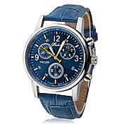 Hombre Reloj de Pulsera Cuarzo Reloj Casual PU Banda Casual Negro Blanco Azul