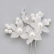 Mujer Niña de flor Cristal Aleación Perla Artificial Acrílico Celada-Boda Ocasión especial Pasador de Pelo