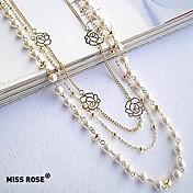 女性 ストランドネックレス パールネックレス 真珠 合金 ファッション コスチュームジュエリー ジュエリー 用途 パーティー 日常 カジュアル