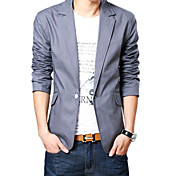 Zian®men's Tailor Collar One Button Solid Color Slim Fashion Long Sleeves Short Business Coat
