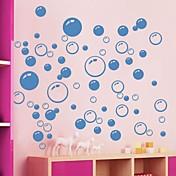 pegatinas de pared Tatuajes de pared, lindo colorido pvc removibles de la belleza azul burbuja pegatinas de pared.
