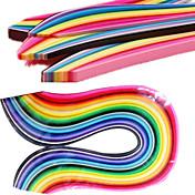 400個は、紙(40色×10台/カラー)DIYクラフトアートの装飾をクイリング3mmx53cm