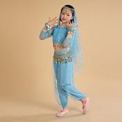Debemos trajes de danza del vientre vestido de entrenamiento de rendimiento infantil