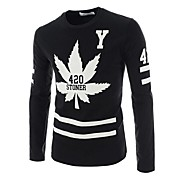 Men's Long Sleeved T-shirt Printing Design Of Self-cultivation