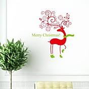 pegatinas de pared Tatuajes de pared, oso de la navidad con los calcetines de pvc pegatinas de pared.