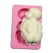ケーキのチョコレートのための3D赤ちゃんの砂糖フォンダンモールドケーキモデリング飾る金型シリコーン赤ちゃんの金型