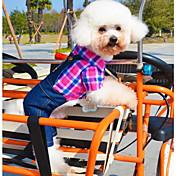 Perro Disfraces Mono Ropa para Perro Cosplay Casual/Diario Vaqueros Rosa Verde Disfraz Para mascotas