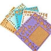 メイククイリング紙DIYクラフトアート装飾用のテンプレート(ランダムな色、21x18cm)