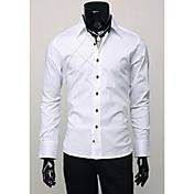Camisas Casuales ( Algodón Compuesto )- Bodycon Hombre