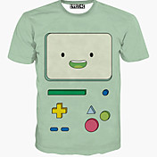 MEN カジュアルシャツ ( コットン ) カジュアル ラウンド - 半袖