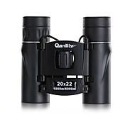 Qanliiy 20X22 Binoculares Alta Definición Impermeable Alcance de la localización Visión nocturna Genérico Maletín BAK4 Revestimiento
