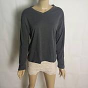 camisa de algodón con cuello en V de Coco zhang mujeres