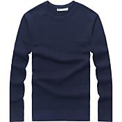 Hombre Tallas Grandes Pullover - Un Color