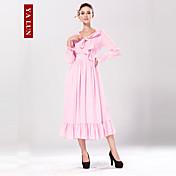 新しいファッションの女性のヴィンテージ甘い鉛筆スパンデックスマキシドレス™yalun