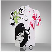 GETMOVING Maillot de Ciclismo Mujer Manga Corta Bicicleta Camiseta/Maillot Top Secado rápido Diseño Anatómico Resistente a los UV