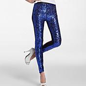 Pantalones y Faldas Mujer Lentejuelas Lentejuela Cintura Baja Criada y Sirvienta Sexys Pantalones