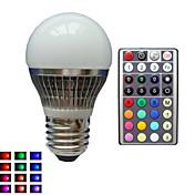E26/E27 LEDボール型電球 A50 1 LEDの ハイパワーLED RGB 調光可能 リモコン操作 装飾用 AC 85-265