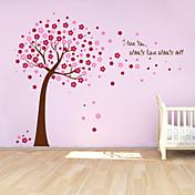 pegatinas de pared Adhesivos de pared, lindo colorido extraíbles pvc los rojos afortunados pegatinas de pared árbol.