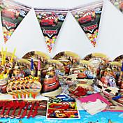 coches de lujo decoración decoraciones del partido niños evnent fuentes de la fiesta de cumpleaños del partido 78pcs 6 personas utilizan