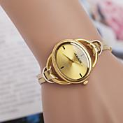 女性用 ドレスウォッチ ファッションウォッチ リストウォッチ クォーツ 合金 バンド エレガント腕時計 ゴールド