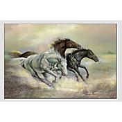 手描きの 動物 横式, 近代の 欧風 キャンバス ハング塗装油絵 ホームデコレーション 1枚