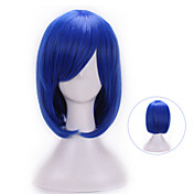Mujer Pelucas sintéticas Ondulado Natural Azul Con flequillo Peluca de Halloween Peluca de carnaval Pelucas para Disfraz
