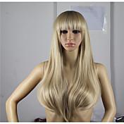 Mujer Pelucas sintéticas Sin Tapa Ondulado Rubia Peluca natural Las pelucas del traje