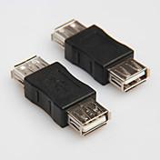 usb 2.0 tipo a una hembra al cable cable del adaptador de acoplador de conector convertidor acoplador extensor cambiador femenino