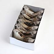una caja de pájaros artificiales incluye 12pcs lovly alta calidad increíble
