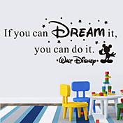 ウォールステッカーウォールステッカースタイルあなたはそれを英語の単語を夢を見ることができる場合& PVC壁のステッカーを引用