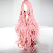 Mujer Pelucas sintéticas Largo Ondulado Rosa Con flequillo Peluca de carnaval peluca de vestuario Peluca de Halloween Pelucas para Disfraz