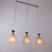 Lámpara Chandelier Moderna con 3 Bombillas - BEVERUNGEN