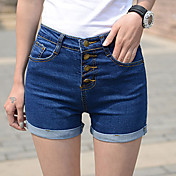 女性のボディコンハイウエストショートパンツジーンズ
