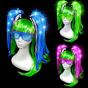 led fluorescente brillo trenza horquilla estilo femenino clásico