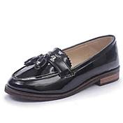 Mujer Zapatos Semicuero Primavera Tacón Plano Negro / Gris / Almendra