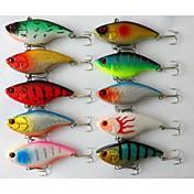 """10 Stk. Vibrering Blink Vibrering Grøn Lyserød Hvid Gul Blå Rød Diverse Farver g/Unse,75 mm/3"""" Tommer,MetalHavfiskeri Ferskvandsfiskere"""
