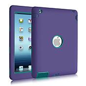 ケース 用途 耐衝撃 耐埃 耐水 フルボディー 純色 シリコン のために iPad 4/3/2