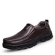 Masculino sapatos Couro Primavera Verão Outono Inverno Conforto Mocassins e Slip-Ons Para Casual Preto Marron
