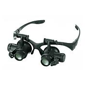 Monocular Lupas Alta Definición LED Resistente a la intemperie Antiempañamiento Genérico Gran Angular Auricular y Micrófono 20 25 Metal