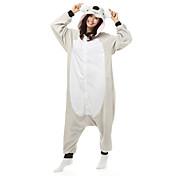 Pijama kigurumi Koala Pijama Mono Pijamas Disfraz Lana Polar Fibra sintética Blanco Cosplay por Adulto Ropa de Noche de los Animales