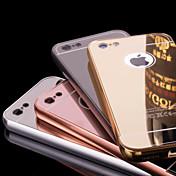 のために iPhone 6ケース / iPhone 6 Plusケース メッキ仕上げ / ミラー ケース バックカバー ケース ソリッドカラー ハード メタル iPhone 6s Plus/6 Plus / iPhone 6s/6